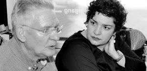 Sepideh Haj Modiri tijdens een dialoogtafel Bestaanszekerheid foto: Leon van den Akker